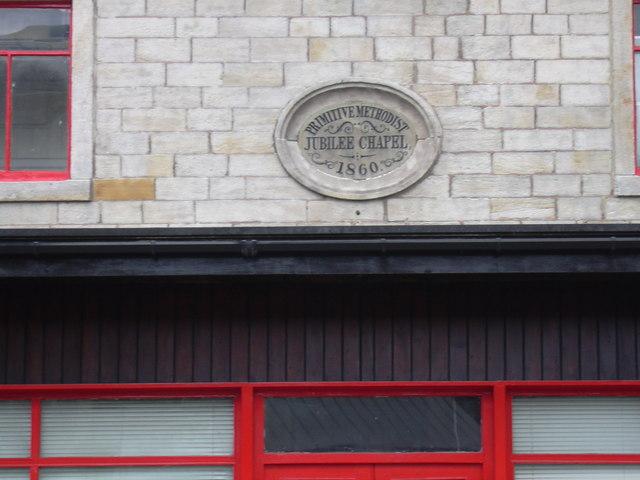 Primitive Methodist Chapel Plaque on disused Shop, Rochdale Road