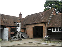 SU7037 : The Old Bakehouse and Granary at Jane Austen's house, Chawton by Basher Eyre