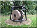 TQ2668 : Millstones in Ravensbury Park by Stephen Craven