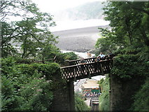 SS7249 : Interested spectators watching the Cliff Railway between Lynton and Lynmouth by Basher Eyre