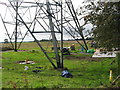 NZ1181 : Powerlines being refurbished by Norman MacKillop