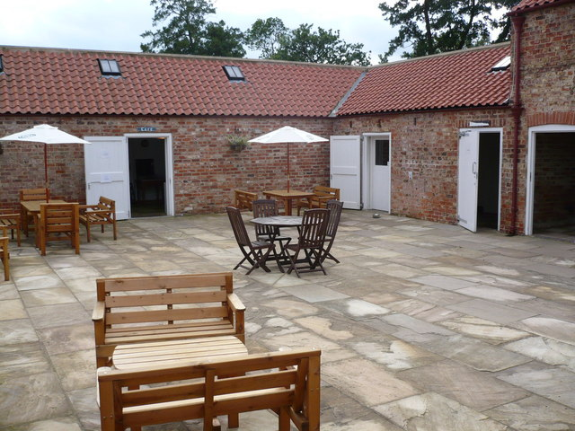 Courtyard Cafe at The Lavender House Mill Green Crayke