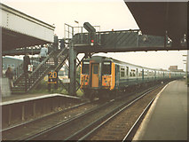TQ0471 : Commuters at Staines station by Stephen Craven