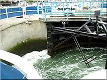 SU4208 : Hythe Marina Lock by Val Pollard