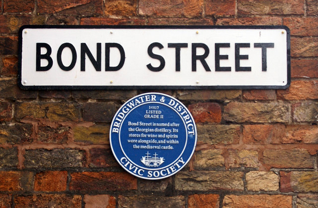 Photo of Bond Street Distillery, Bridgwater blue plaque