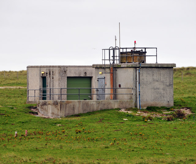 Launch control building on missile range