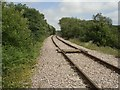 SS8483 : Railway to the north of Kenfig Hill by eswales