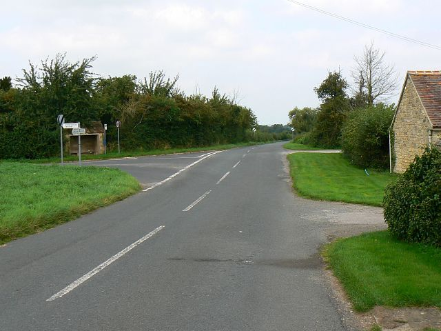 Road junction, north of Haresfield, Gloucestershire