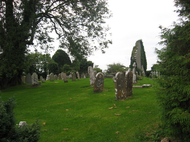 Church and graveyard at Kilbride, Co. Offaly