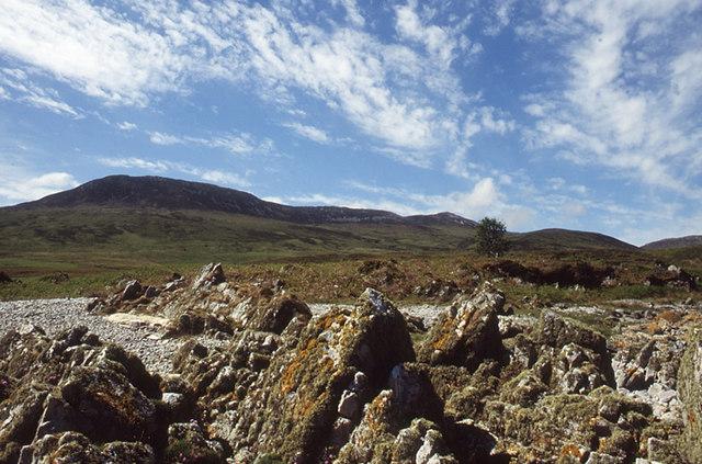 Rock formation beach near Rubha Biorach, Islay