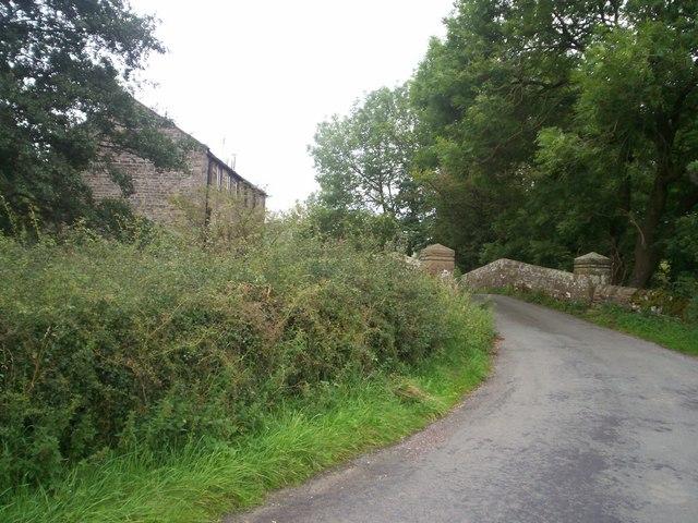 Mill and Packhorse Bridge at Brund