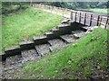 SE0327 : Reservoir outlet, Wade Wood, Luddenden by Humphrey Bolton
