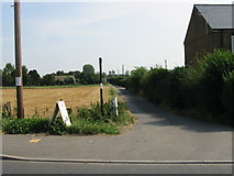 TR3256 : Footpath off the A258 towards Worth by Nick Smith