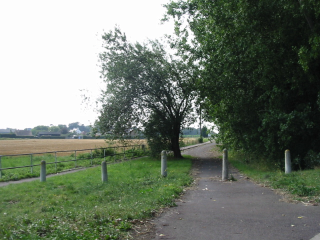 Route of the old road to Deal from Sandwich