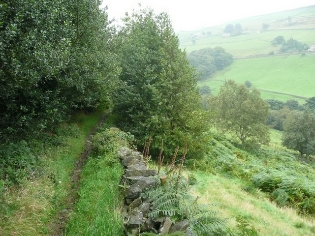 Footpath from Upper Saltonstall to Wade Wood, Warley