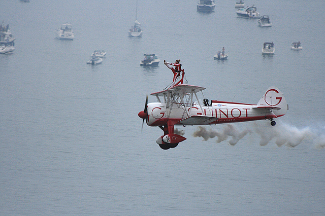 Bournemouth Air Festival 2008 - Team Guinot display over Poole Bay
