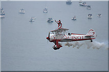 SZ1090 : Bournemouth Air Festival 2008 - Team Guinot display over Poole Bay by Mike Searle
