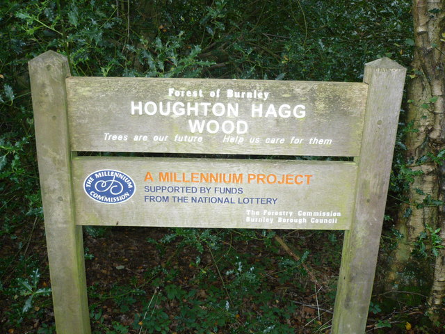 Sign at Houghton Hagg Wood