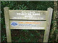 SD8633 : Sign at Houghton Hagg Wood by Phil Catterall