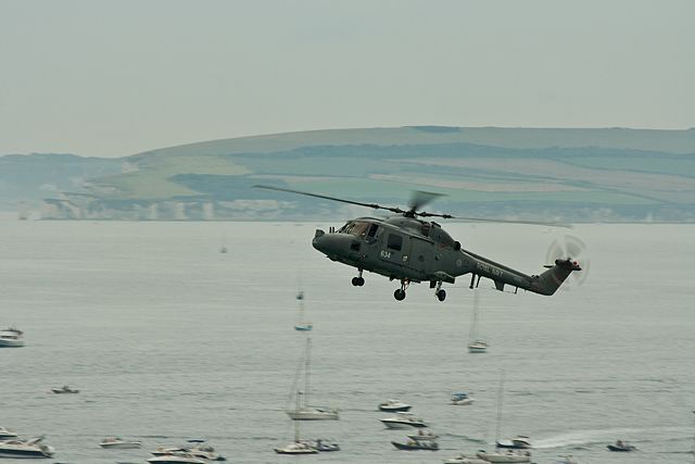 Bournemouth Air Festival 2008 - Royal Navy Lynx over Poole Bay