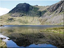 NY2807 : Harrison Stickle overlooking Stickle Tarn by Peter S