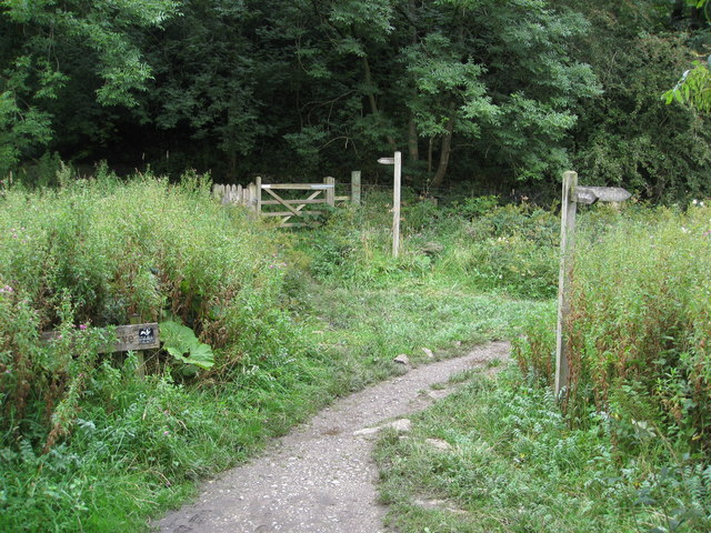 Cheedale - Nature Reserve and Footpath Junction