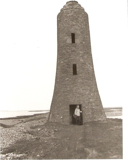 The old beacon tower that was on the west edge of Lucky Scalp in 1966