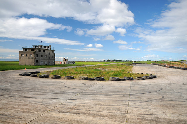 Old control tower and taxiways at Crail