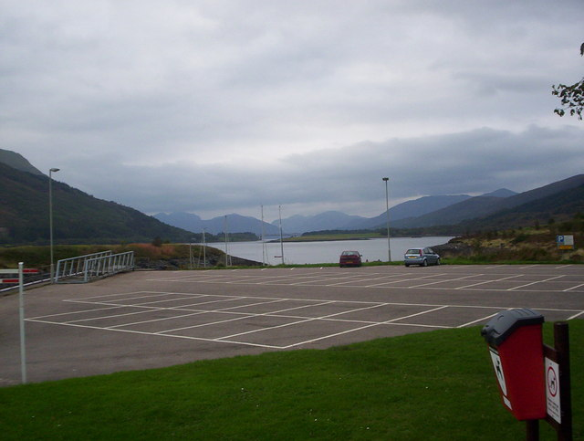 Loch Leven and the Ballachulish Bridge from the Isles Hotel carpark