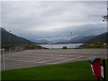 NN0858 : Loch Leven and the Ballachulish Bridge from the Isles Hotel carpark by Michael Murray