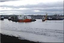NJ9505 : Point Law, Aberdeen Harbour by Stanley Howe