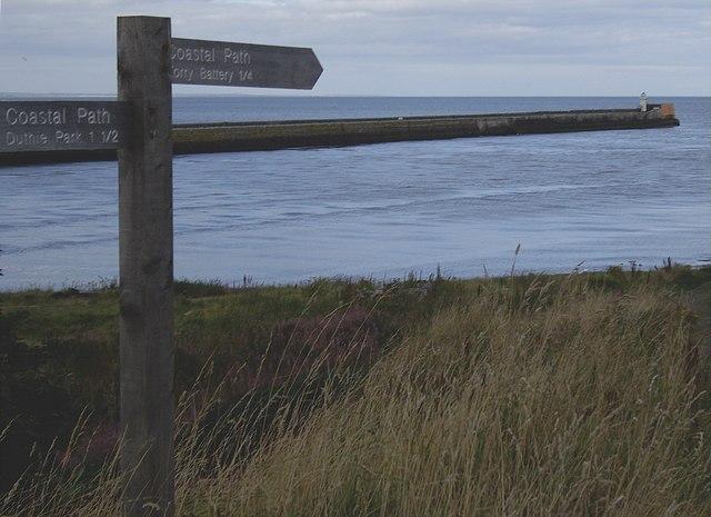 Coastal Path signpost