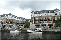 TQ0371 : Staines waterfront by Graham Horn