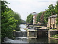 TQ3483 : Regents Canal and Lock looking from Goldsmith's Row, Hackney, London by Oast House Archive
