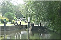 TQ0765 : River Wey stop lock by Graham Horn