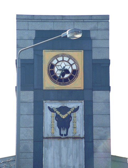 Tower near Graham Square (bucranium detail)