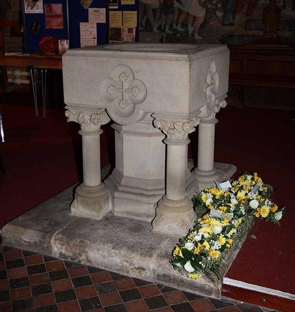 St Mary, Ambleside, Cumbria - Font