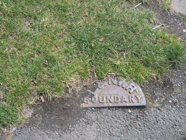 L&NWR Boundary marker, Glasson Dock