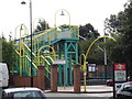 SK5445 : Colourful Footbridge Leading to Bulwell Station by Oxymoron
