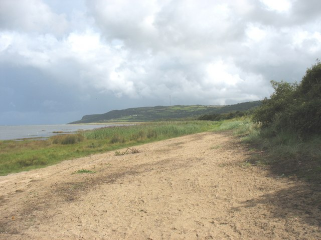 View east along the beach at Llanddona