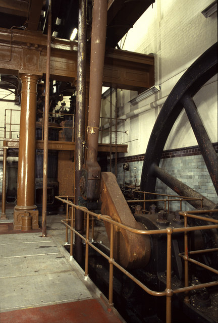 Steam engine, West Ham Pumping Station