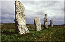 NB2133 : Stones running west, Callanish by Tom Richardson