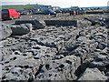 R0596 : Deeply fissured limestone pavement at the Doolin pier by C Michael Hogan