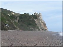 SY2187 : Cliffs east end of Branscombe beach by Rob Purvis