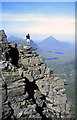 NG9358 : Rocks on Liathach by Walter Baxter