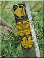 TM1368 : Footpath sign by Keith Evans