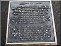 NY5563 : Lanercost Old Bridge Information Plaque by Antonia