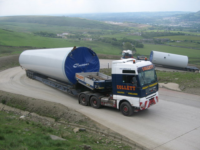 Turbine Tower section delivery to Scout Moor