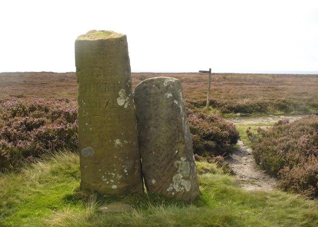 Boundary Stones on Tumulus Sneaton Moor
