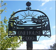 TM0259 : Onehouse village sign by Andrew Hill